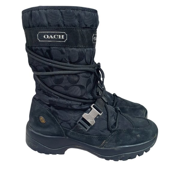 Coach Sela Boots Womens 9 M Winter Snow Boots Blac